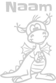 geboortesticker met draakje