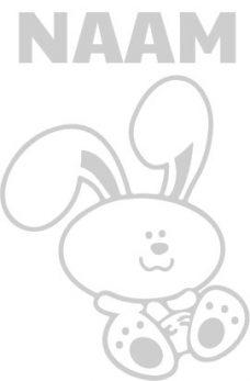 geboortesticker met konijntje