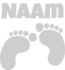 geboortesticker met voetjes