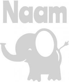 geboortesticker met olifant