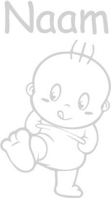 Raamsticker met baby